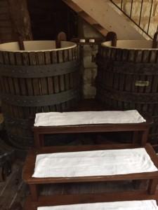 Antichi torchi recuperati, ora vasche idromassaggio