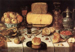 Nicolaes Gillis - Gedekte tafel (1611)