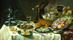 Still Life with Peacock Pie (1627) - Pieter Claesz