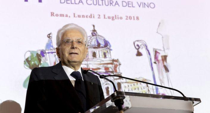 """Mattarella: """"al vino italiano servono mercati aperti"""""""